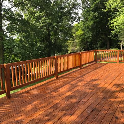 Natural Oak Stained Deck>