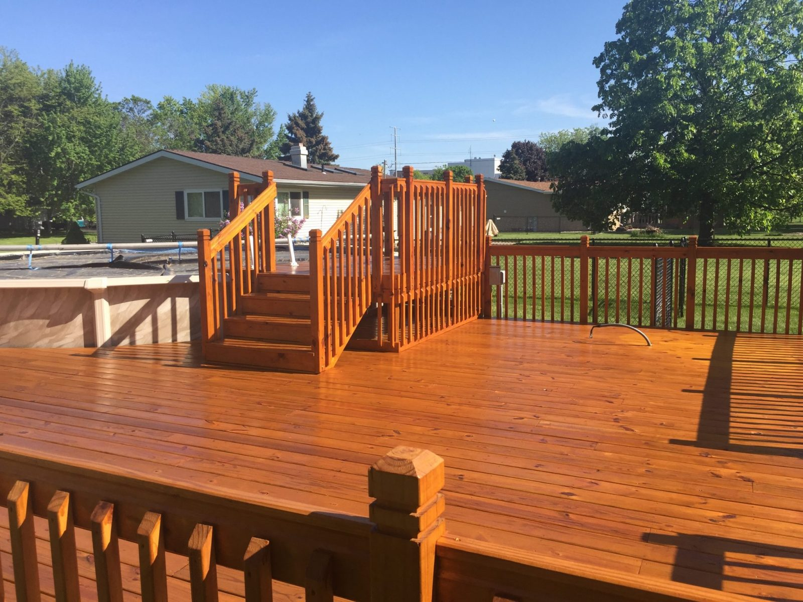 Deck after stain